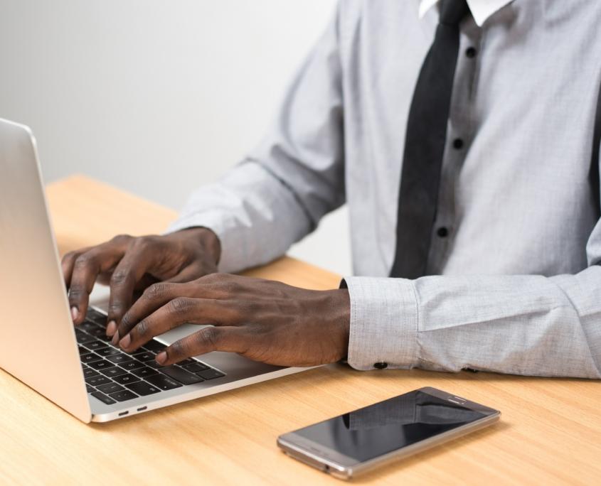 Computer-man-typing